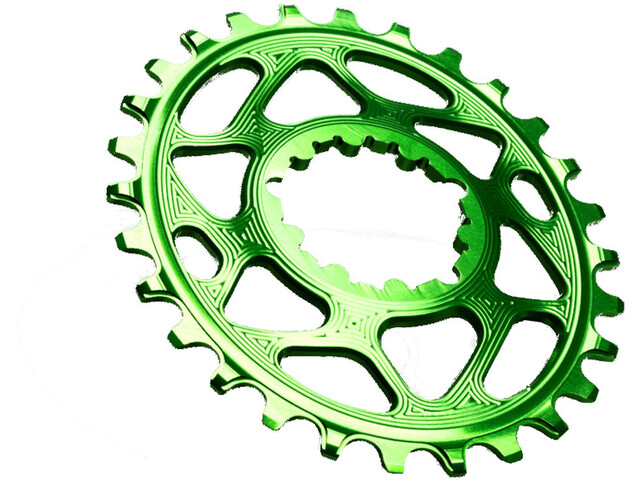 absoluteBLACK Oval Chainring for SRAM XX1 Spiderless froggy green